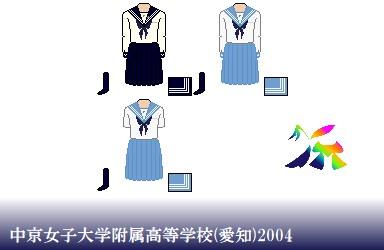 中京女子大学附属高等学校-2004制服ドット絵